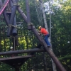 2014 cohort students on team building obstacle course